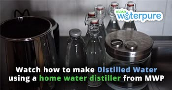 Watch how to make distilled water using a Make Water Pure home water distiller