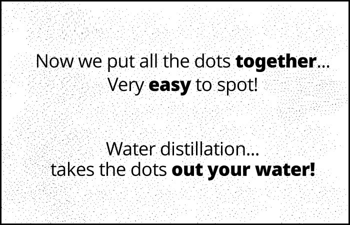 Water Distilled 1000 dots