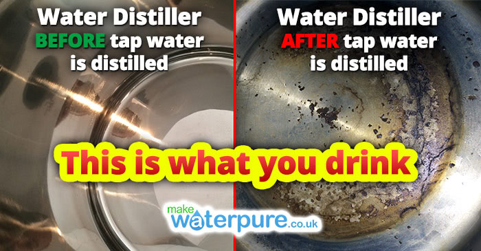 Water Distiller BEFORE and AFTER Tap Water