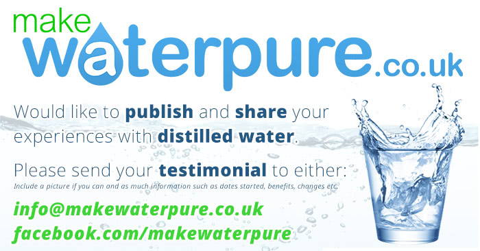 Share your distilled water testimonial with others