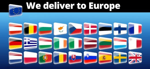 We deliver to Europe