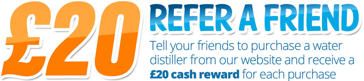 Refer a friend to buy a water distiller